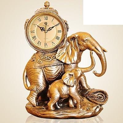 elefante estilo reloj Relojes de sala de estar de lujo clásico complejo ornamentos decorativos silencio en
