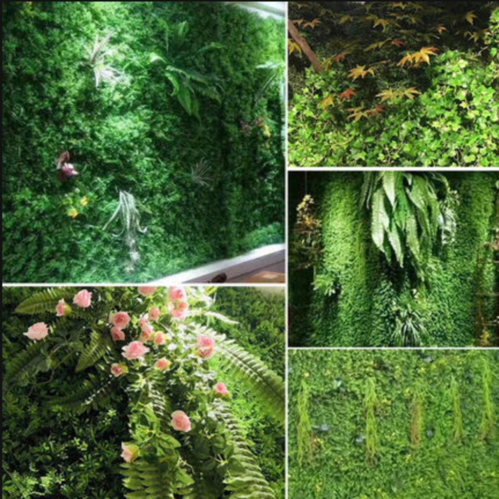 XEWNEG Seto Artificial Planta Verde Pantalla De Privacidad Panel De Plástico Falso Fondo De La Cerca del Enrejado, For La Boda Decoración De La Pared del Jardín (23.62x15.75 Pulgadas) (Color : 03):