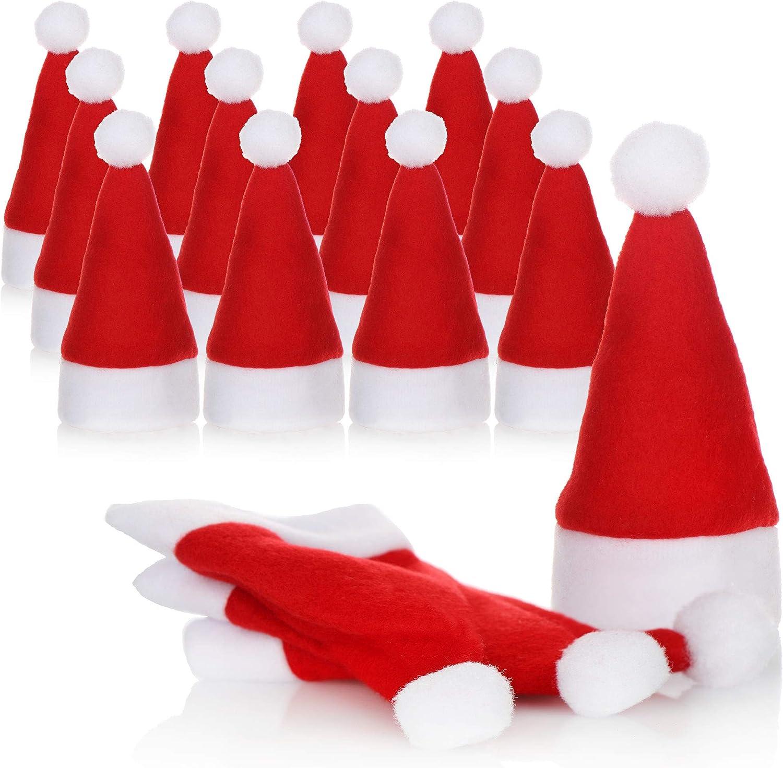 Christmasbeutel f/ür Besteck Weihnachtstischdekoration 16 St/ück - 8X M/ütze. 8X Socke com-four/® 16-teiliges Bestecktaschen Set in Weihnachtsm/ützen und Weihnachtsstiefel Motiv