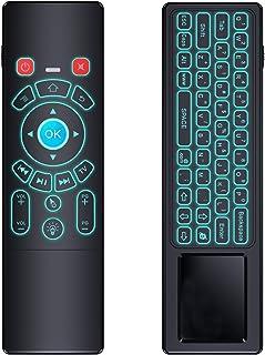 favormates 2.4GHzバックライト付きワイヤレスミニキーボード、マウスタッチパッドコンボ、最高のAndroid TV Box , HTPC , IPTV、PC、スマート電話、パッド、ps3、Xbox複数デバイス
