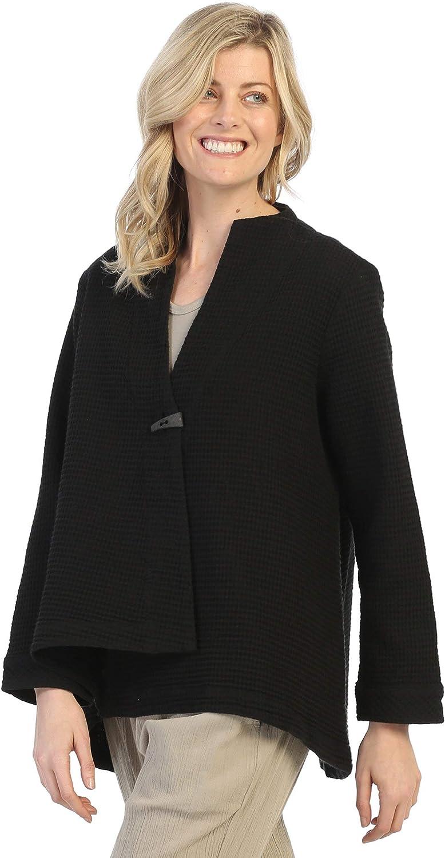 Focus Fashion Women's Lightweight Cotton Waffle Swing Jacket SW-206