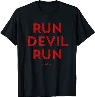 Run Devil Run James 4:7 Bible T-Shirt