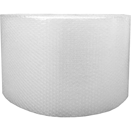 """Amazon Basics Perforated Bubble Cushioning Wrap - Small 3/16"""", 12-Inch x 175-Foot Long Roll"""
