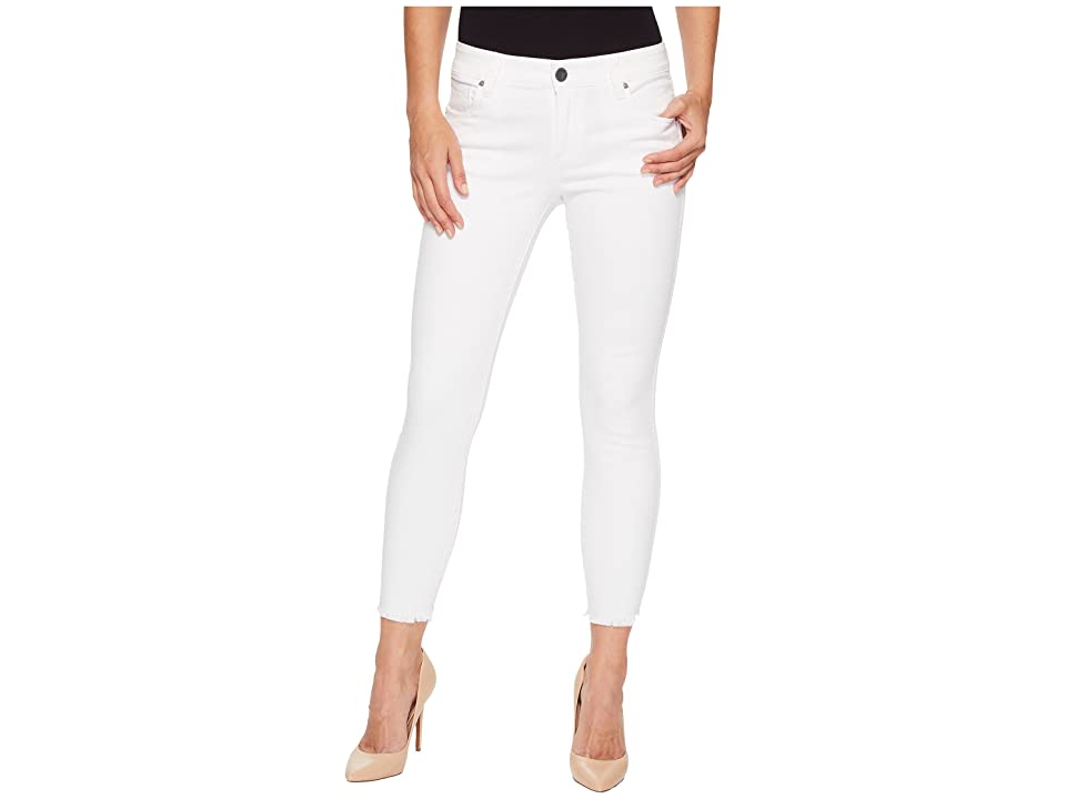 KUT from the Kloth Connie Ankle Skinny Fray Hem in Optic White (Optic White) Women