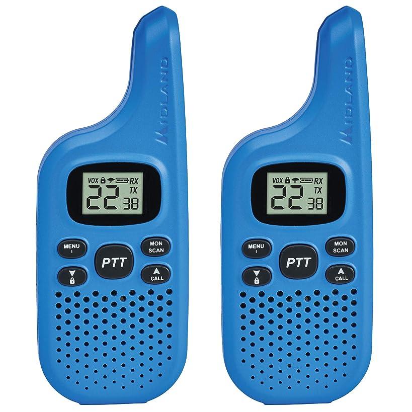 Midland - X-TALKER T20, 22 Channel FRS Walkie Talkie - Up to 16 Mile Range Two-Way Radio, 38 Privacy Codes, NOAA Weather Alert (Pair Pack) (Blue)