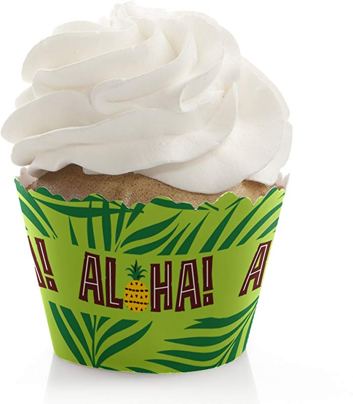 Tiki Luau Tropical Hawaiian Summer Party Decorations Party Cupcake Wrappers Set Of 12