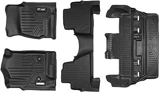 SMARTLINER Floor Mats 3 Row Liner Set Black for 2015-2018 Cadillac Escalade