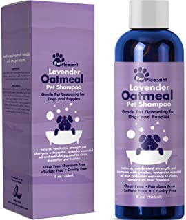 Natural Dog Shampoo with Colloidal Oatmeal – Puppy Shampoo for Dog Bath with..
