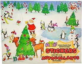 Springbok 2000 Kids 60 Piece Christmas Holiday Fun Jigsaw Puzzle Plus Repositionable Stickers