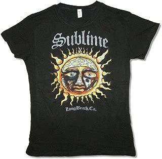 Sublime Sun Long Beach CA Girls Juniors Black Shirt Soft