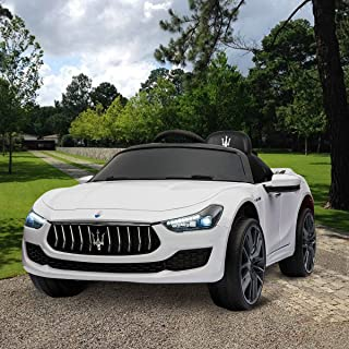 TOBBI Kids Ride On Car Maserati 12V Rechargeable Toy Vehicle w/ MP3 Remote Control White