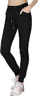Sports Womens Premium Quality Fleece Pants - Athletic Jogger Fitness Workout Gym Sweatpants