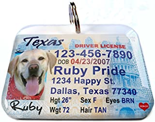 ID4Pet Texas Driver License Tag for Cats or Dogs