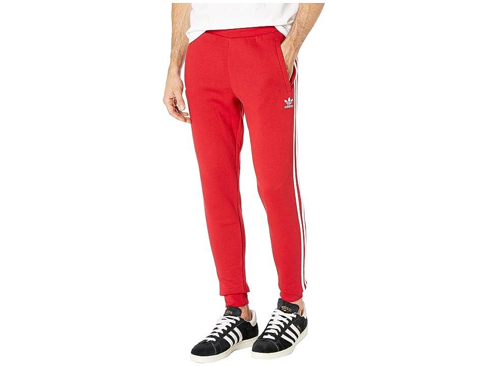 Image of adidas Originals 3-Stripes Pants (Power Red) Men's Casual Pants