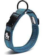 cocomall 犬首輪 犬の首輪 犬用訓練首輪 小型、中型、大型犬用首輪 ペット用品  3M反射材料  ナイロン製  通気性  弾力性 ソフト 調節可能   ハーネス リード (S, ロイヤルブルー)
