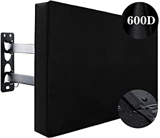 H HOME-MART Outdoor TV Cover Weatherproof with Bottom Cover for 55-58inch TV, Waterproof and Dustproof TV Screen Protector...