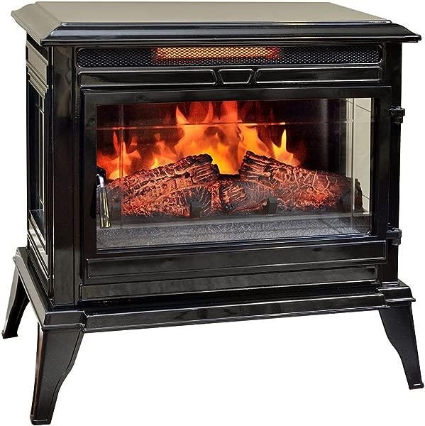 Comfort Smart Jackson Infrared Electric Fireplace Stove Heater Black CS 25IR BLK