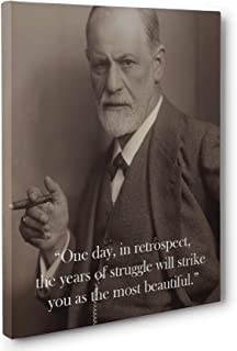 Sigmund Freud Years of Struggle Quote Canvas