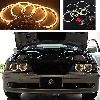 QiuKo 4pcs CCFL Angel Eye Halo Ring White Color For BMW E46 E39 E36 3 Series Coupe (amber)