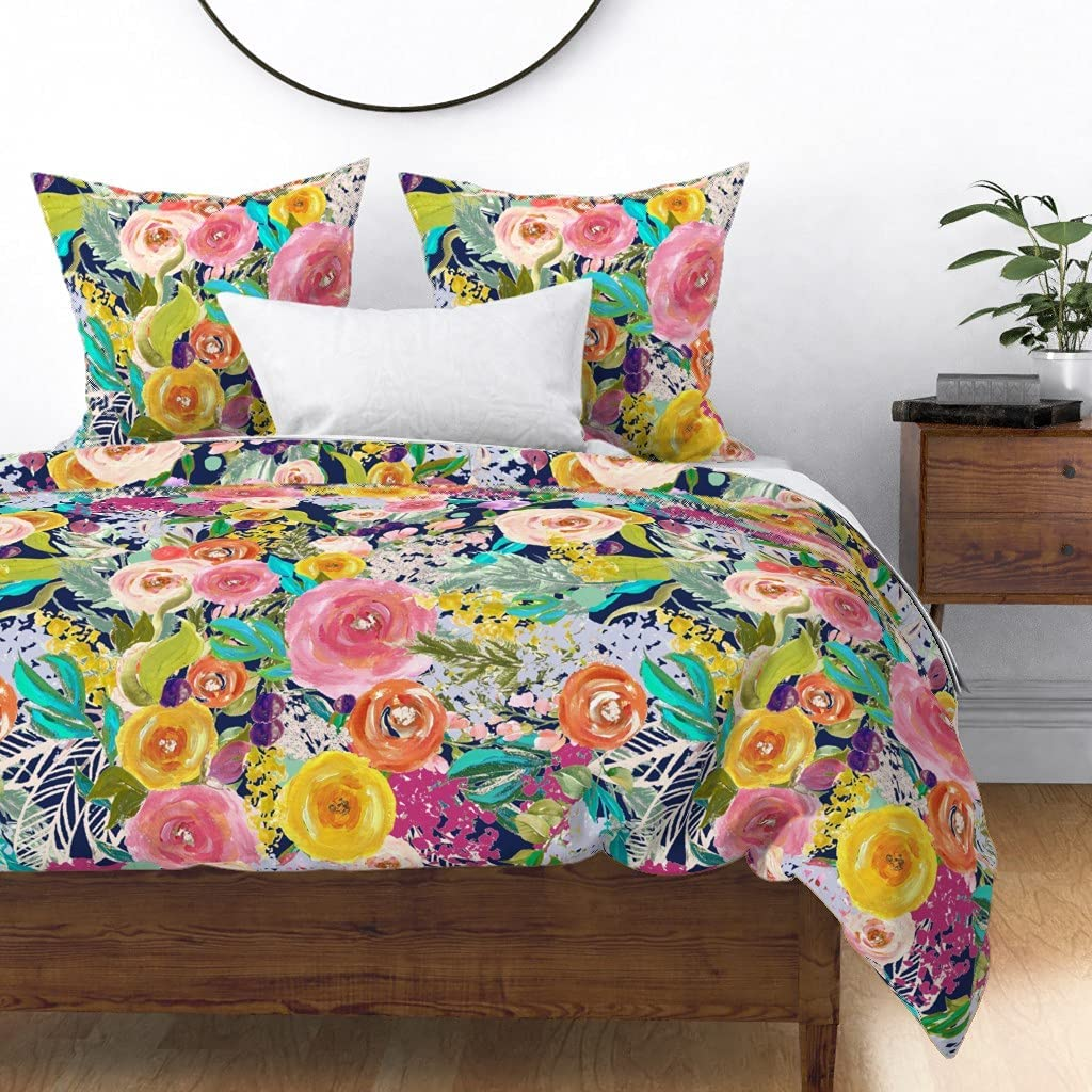 Roostery Duvet Cover Painted Ranking TOP20 online shopping Blo Blooms Painterly Autumn