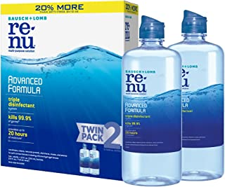 Bausch + Lomb renu Lens Solution Advanced Triple Disinfect Formula Multi-Purpose, 12 Ounce Bottle Twinpack
