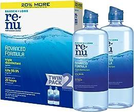 Bausch + Lomb renu Lens Solution Advanced Triple Disinfect Formula Multi-Purpose, 12 Ounce Bottle Twinpack