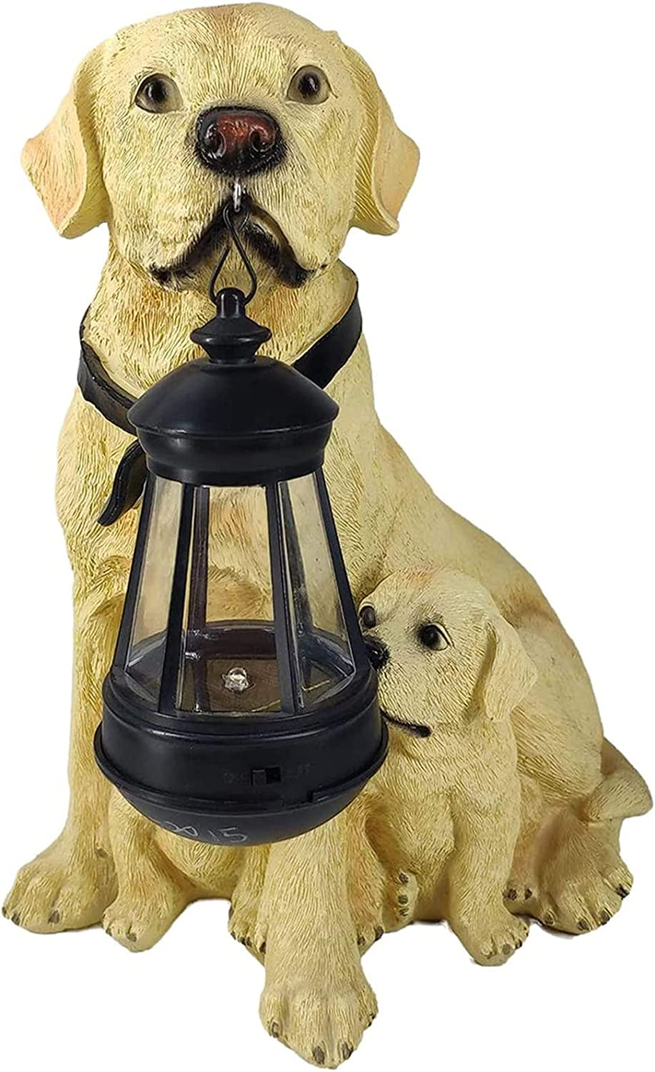 HELOU Washington Mall Solar Light Outdoor Dogs Ornament Resin Max 45% OFF Labrad Exquisite