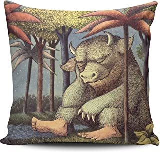 ZeDae Decorative Where the Wild Things are Square Pillowcases Modern Personalized Throw Pillow Covers Cases 18x18 Inches One Sided