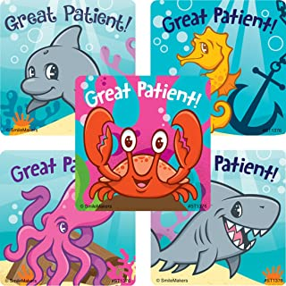 SmileMakers Great Patient Sea Life Pals Stickers - Prizes 100 per Pack