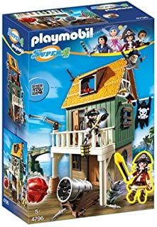 PLAYMOBIL - Fuerte de Pirata camuflado con Ruby, playset (4796)