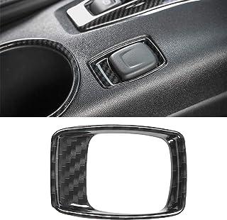 CheroCar for Camaro Interior Accessories Carbon Fiber Grain Cigarette Lighter Decoraiton Cover Trim for Chevrolet Camaro 2...