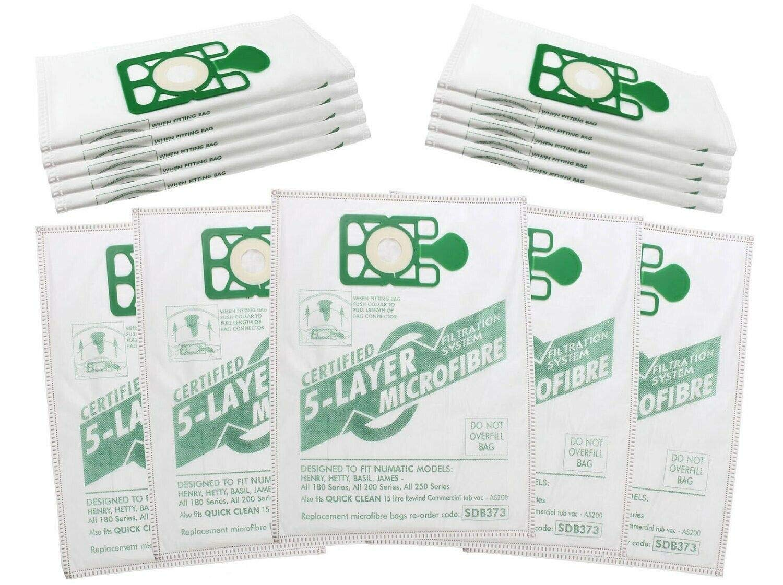 Zinc Products Hepaflo - Bolsas para aspiradoras Numatic Henry HVR200 HVC200 NRV200 (20 Unidades): Amazon.es: Hogar