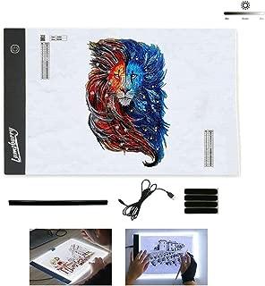 Dibujo animaci/ón Lazmin Ultradelgado Port/átil Caja de luz LED Trazador USB Power A4 LED Artcraft Plantilla Plantilla Pantalla de Tatuaje para Artistas bocetos
