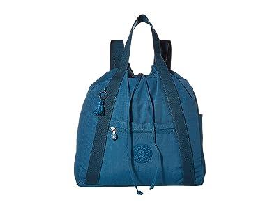 Kipling Art Medium Tote Backpack (Mystic Blue) Handbags