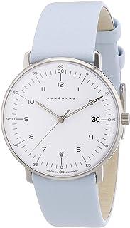 JUNGHANS - 047/4254.00 - Reloj analógico de Cuarzo para Mujer con Correa de Piel, Color Azul