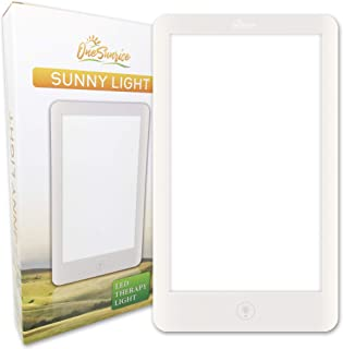 SunnyLight White Light Therapy Lamp | Super Bright LED Panel Light with Adjustable Brightness up to 32,000 Lux and Multi-Position Stand