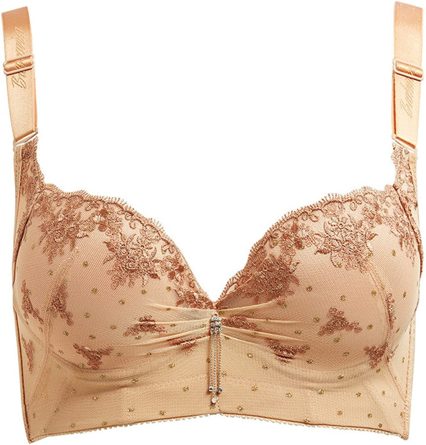 HFDSTRH GHRHA Adjustable Side Thick Cup of Lingerie in Your Tok Sexy deepv Bra lace Embroidery