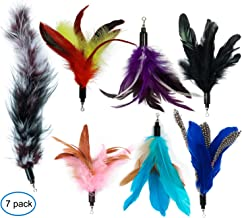EcoCity Cat Toys - Feather Cat Teaser Toys - Natural Feather Refills for Cat Wand Toy