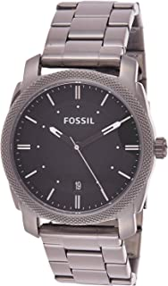 Fossil Machine Smoke for Men - Casual Stainless Steel Band Watch - FS4774