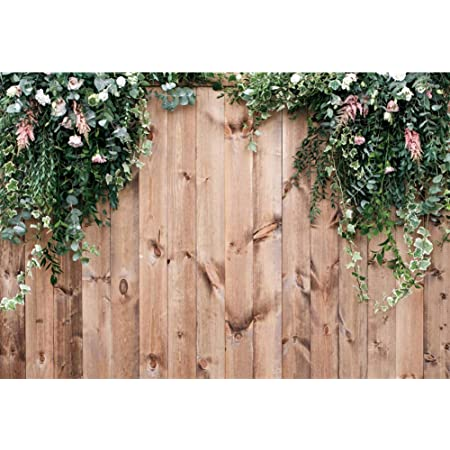 6x6FT Vinyl Wall Photography Backdrop,Fruits,Pine Floral Vintage Background for Baby Shower Bridal Wedding Studio Photography Pictures