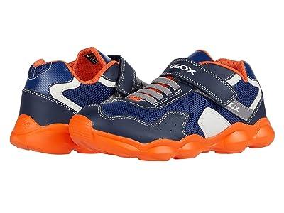 Geox Kids Munfrey 8 (Big Kid) (Navy/Orange) Boy