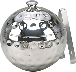 Elegance Bolt Hammered 8-Inch Globe Stainless Steel Ice Bucket