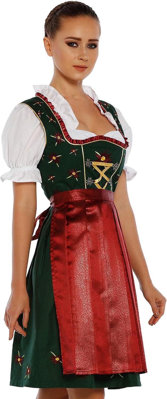 3pieces Dirndl Dress Authentic Bavarian Floral Exlusive