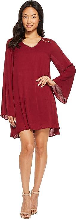 American Rose Riley Bell Sleeve Dress