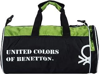 595757d66 United Colors of Benetton Gym Bag Polyester 45 cms Black/N Green Gym  Shoulder Bag