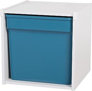 Iris Ohyama, étagère de rangement pour coffre de jouet, 1 compartiment- KCX-1 - Bois, Blanc, 34,6 x 35,1 x 34,6 cm