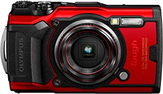 Olympus TG – 6 Red Water Proof Camera, 12 MP, 4X Zoom Lens, LCD Rear Screen