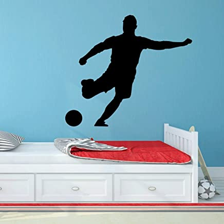 Soccer Player Wall Decal - Personalized Sports - Vinyl Sticker Art For Boys Bedroom or Playroom