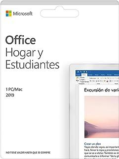 Microsoft Office Hogar y Estudiantes 2019 | Todas las aplicaciones de Office 2019 para 1 PC