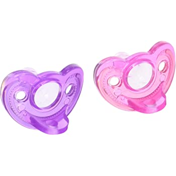 COLOR RANDOM THE FIRST YEARS GUMDROP ORTHODONTIC INFANT PACIFIER PINK//BLUE *2